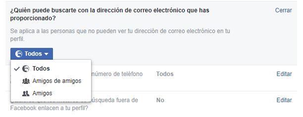 Cómo quieres que te encuentren en Facebook