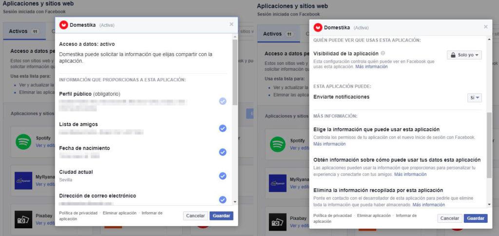 Editar los accesos de las aplicaciones de Facebook | Privacidad en Facebook